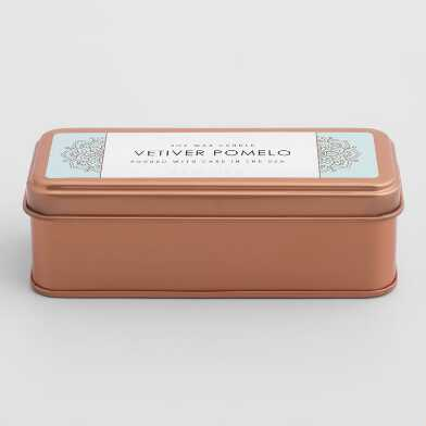 Vetiver Pomelo Copper Tin Travel Candle