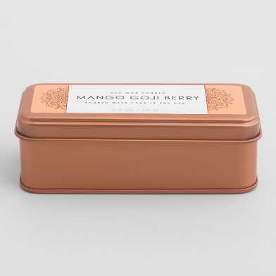 Mango Goji Berry Copper Tin Travel Candle