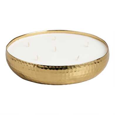 Hammered Gold Citronella Candle