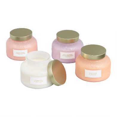 Milk Glass Filled Jar Candle Collection