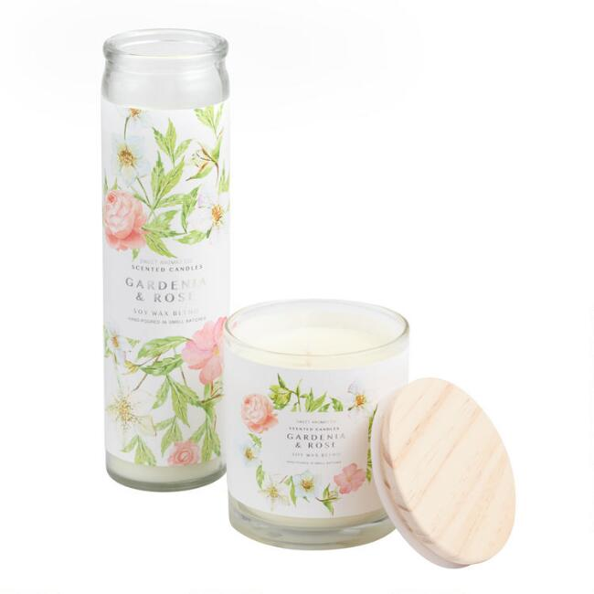 Gardenia Rose Sweet Aromas Filled Candle