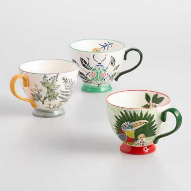 Tropical Hand Painted Mugs