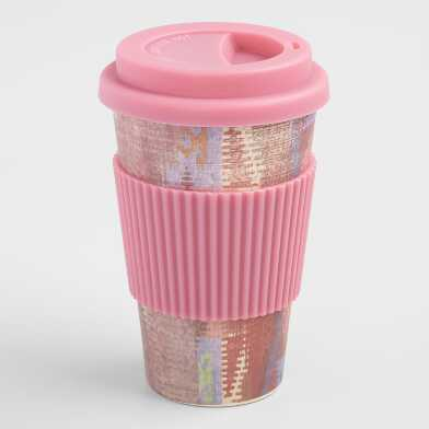 Pink Sunbaked Bamboo Fiber Not a Paper Cup
