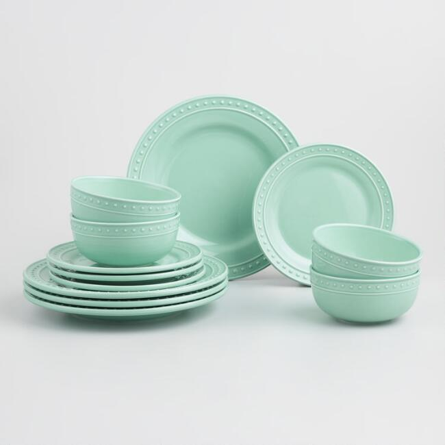 Aqua Nantucket 12 Piece Dinnerware Set
