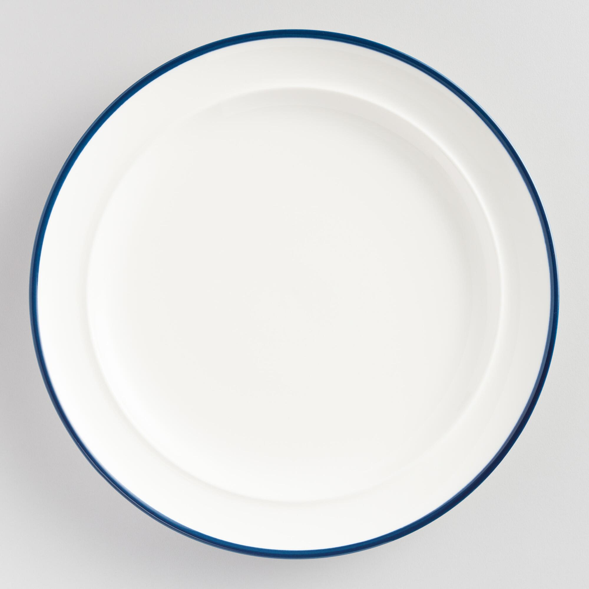 Navy Blue Rim Salad Plates Set of 6 by World Market