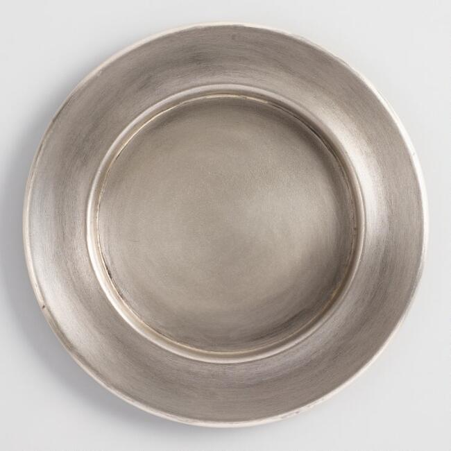 Small Antiqued Metal Plates Set of 4