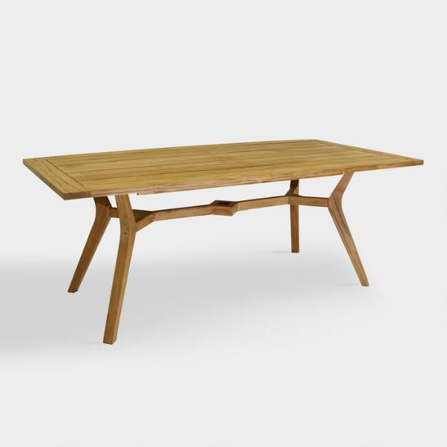 Teak Wood Finley Outdoor Dining Table