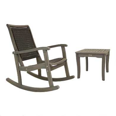 Graywashed Wood And Wicker Claire Outdoor Living Collection