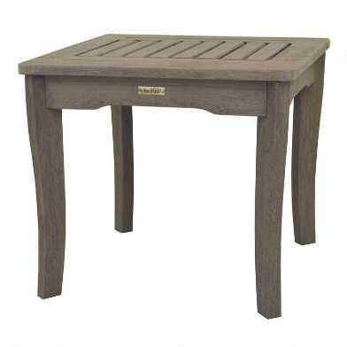 Graywashed Wood Claire Outdoor Accent Table