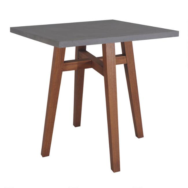 Wood And Stone Aria Counter Height Outdoor Dining Table