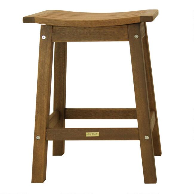 Eucalyptus Wood Aria Outdoor Counter Stools Set Of 2