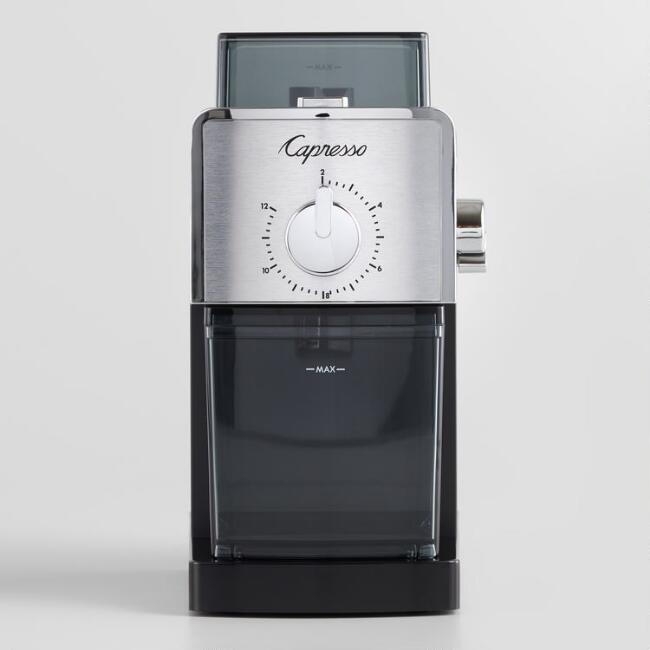 Capresso Stainless Steel Disc Burr Electric Coffee Grinder