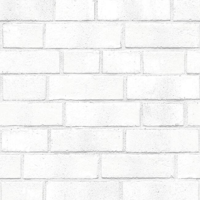 Whitewash Brick Peel and Stick Wallpaper