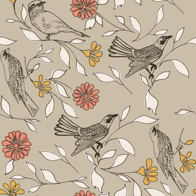 Songbird Floral Peel and Stick Wallpaper