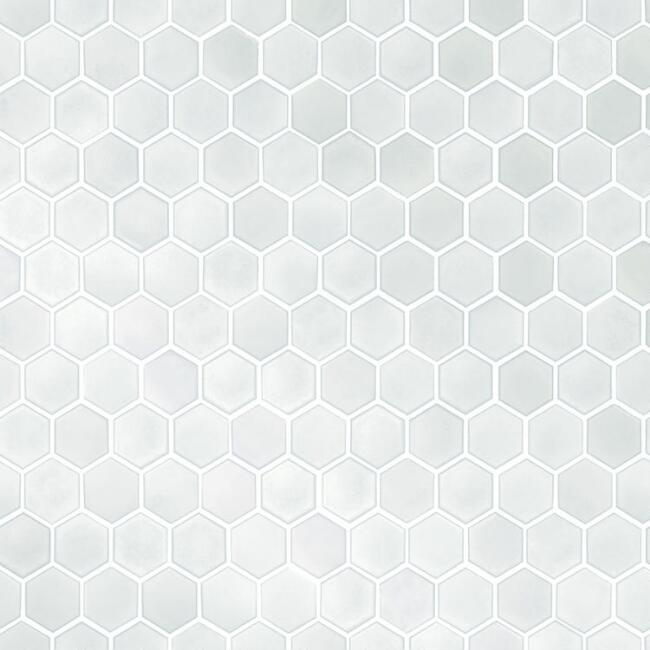 Metallic Pearl Honeycomb Tile Peel and Stick Wallpaper