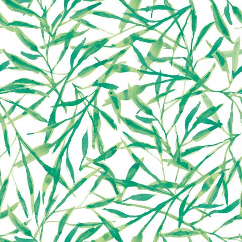 Green Leaves Peel And Stick Wallpaper