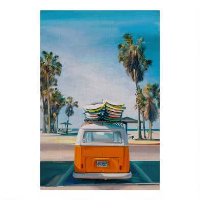 Retro Beach Day II Canvas Wall Art