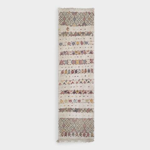 Revival Rugs Multicolored Wool Nebahat Vintage Floor Runner