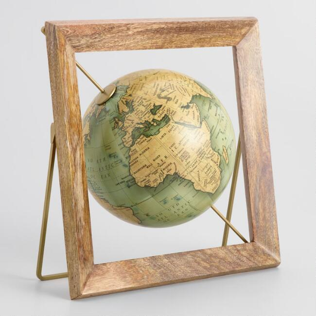 Green Globe In Frame by World Market