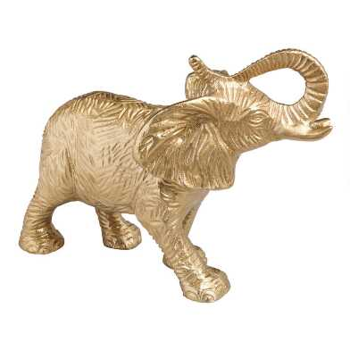 Gold Metal Elephant Decor