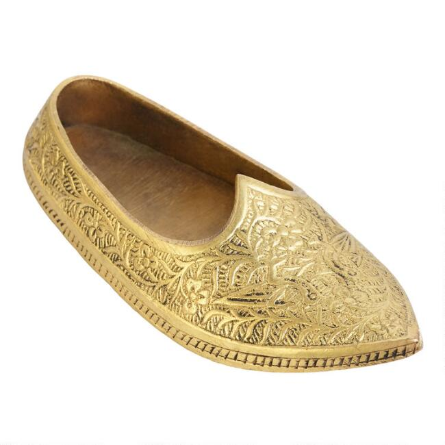 Brass Mojari Shoe Decor Set of 2