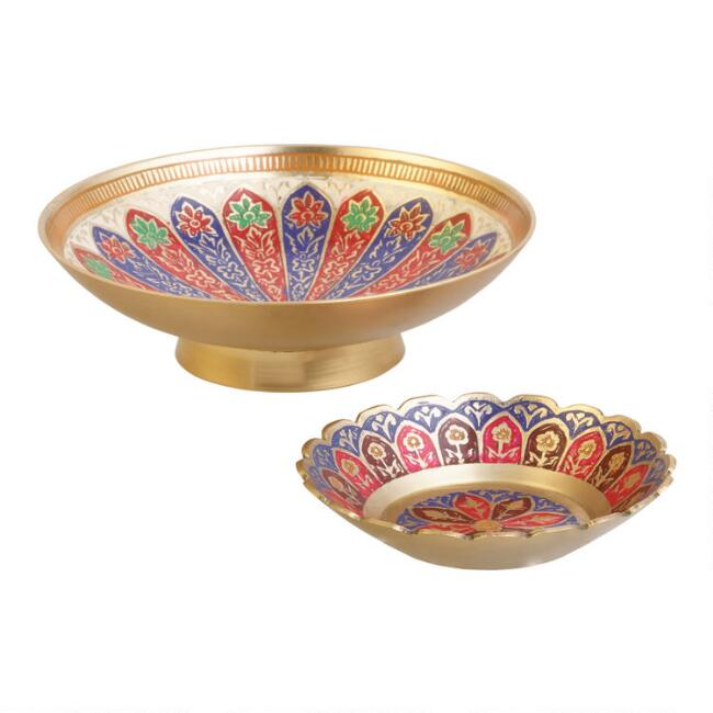 Painted Brass Trinket Dish Collection