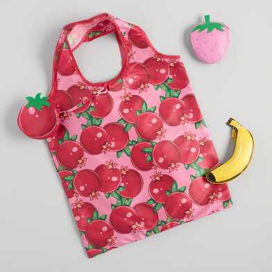 Fruit Foldable Tote Bags Set of 3