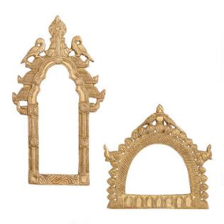 Brass Bird Arch Wall Decor