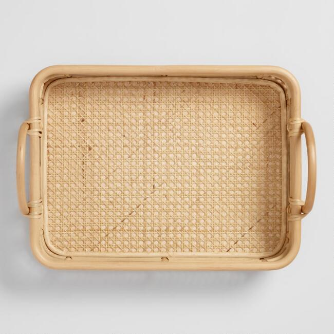 Natural Rattan Cane Serving Tray