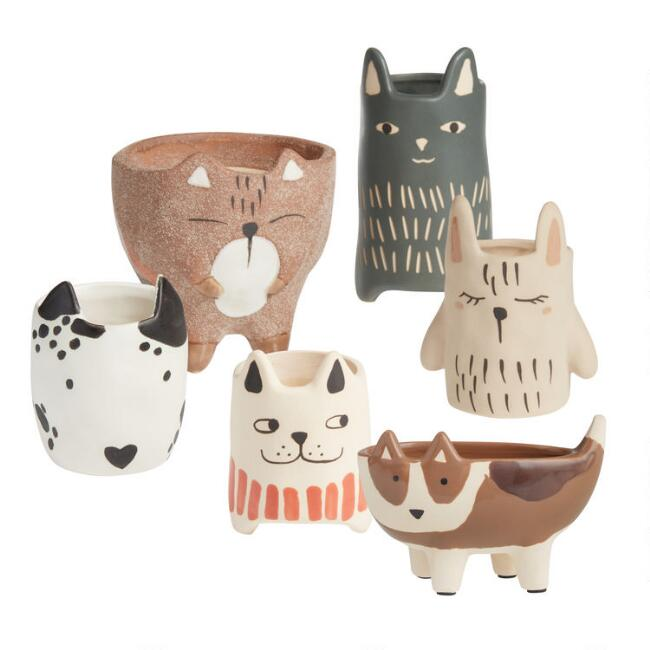 Ceramic Animal Planter Collection