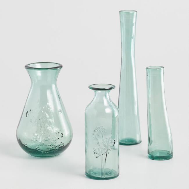 Green Recycled Glass Vase Collection