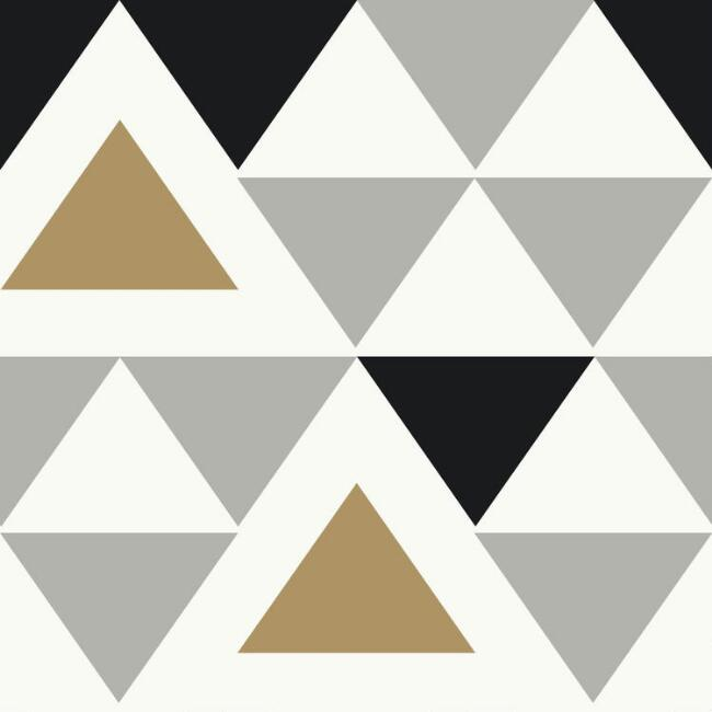 Contemporary Triangle Peel and Stick Wallpaper