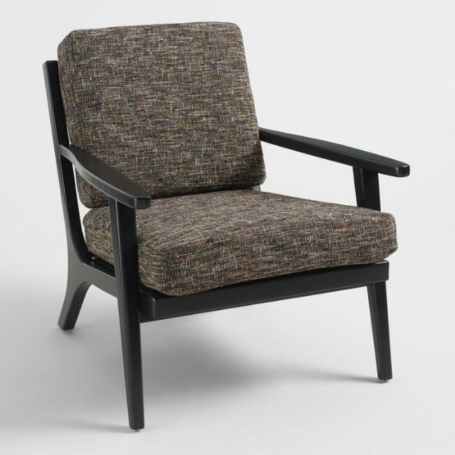Black Tweed Xander Armchair