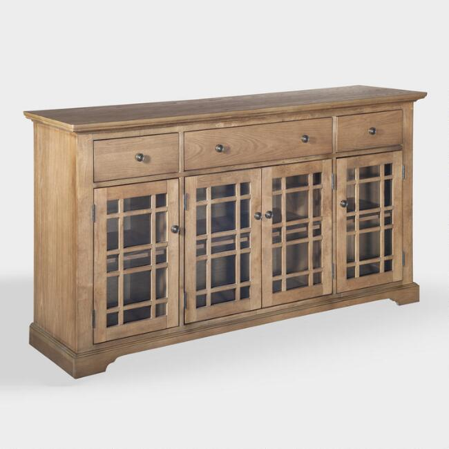 Large Wood Saira Storage Cabinet