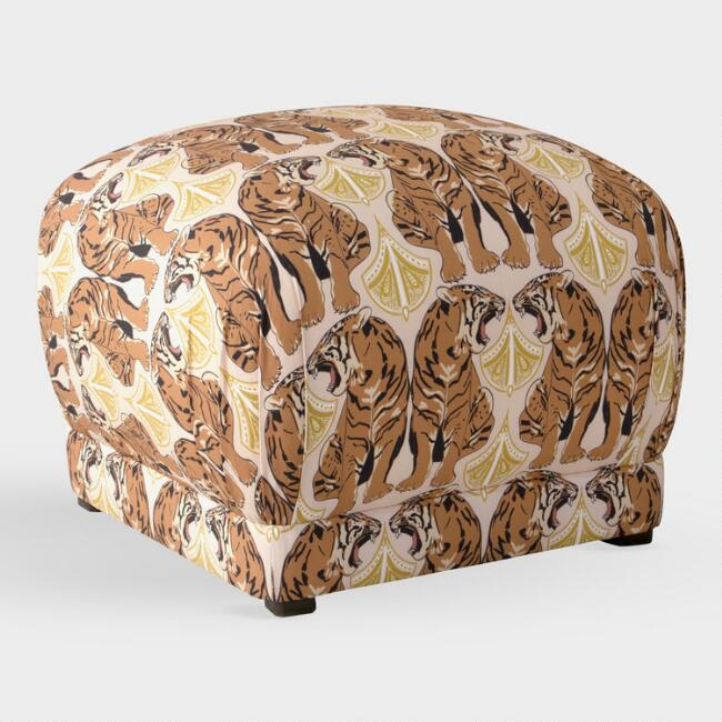 Cloth & Company Chan Tiger Blush Camille Pouf