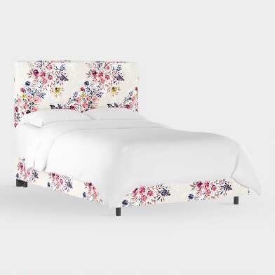 Bianca Floral Loran Upholstered Bed