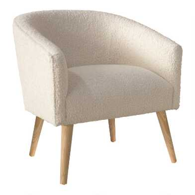 Natural Faux Sheepskin Ilana Upholstered Chair