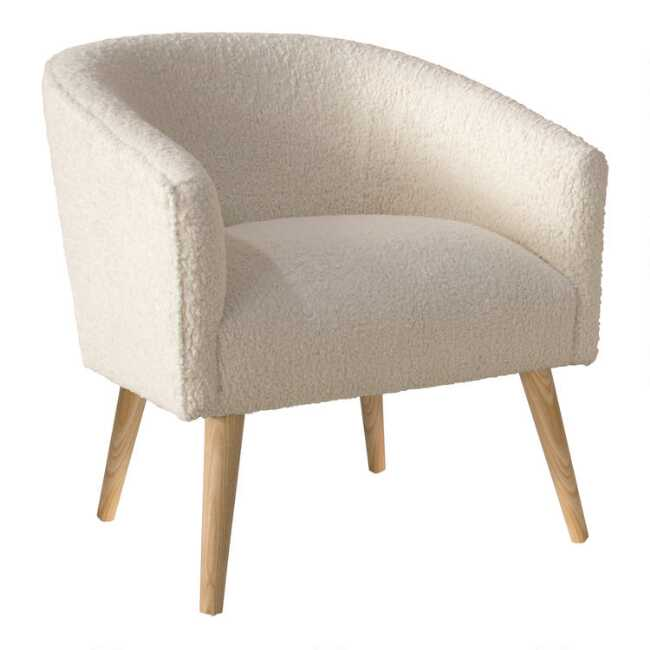 Faux Sheepskin Ilana Upholstered Chair