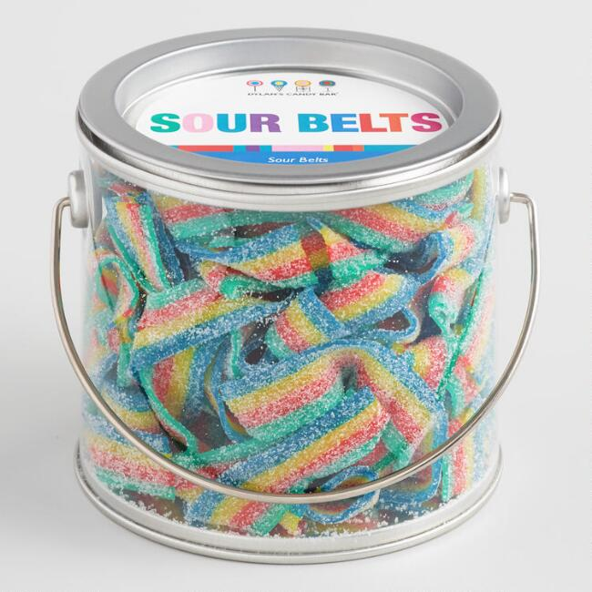 Dylan's Candy Bar Rainbow Sour Belts Can