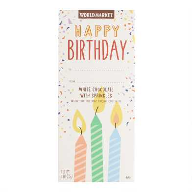 World Market® Birthday Sprinkles White Chocolate Bar