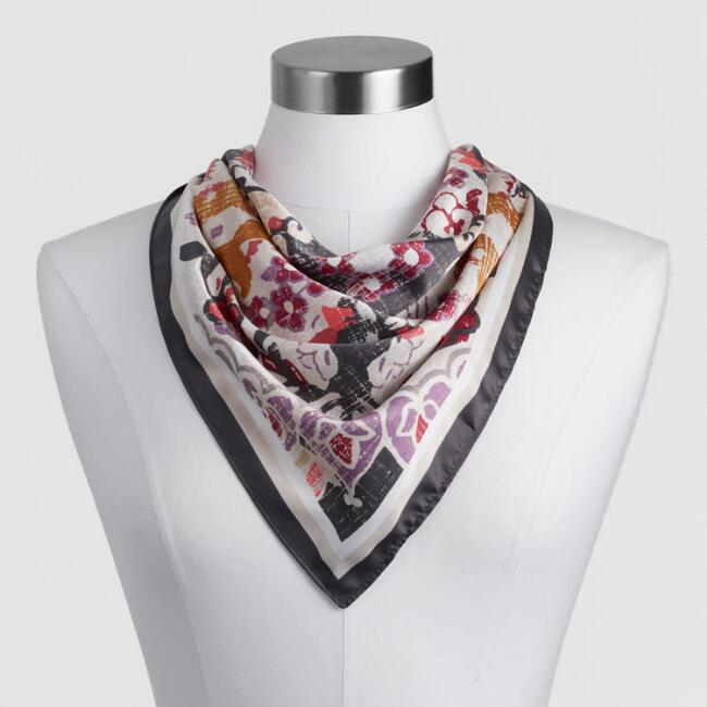 Multicolored Persian Kerchief Scarf