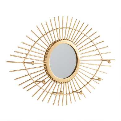 Gold Seeing Eye Wall Jewelry Holder