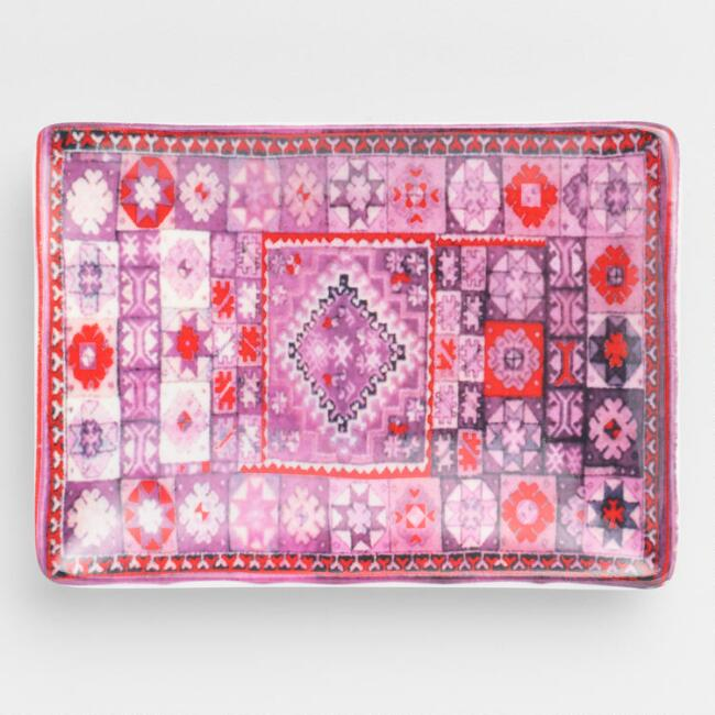 Small Pink and Purple Moroccan Rug Trinket Dish