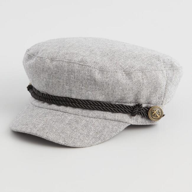 Gray Speckled Newsboy Hat