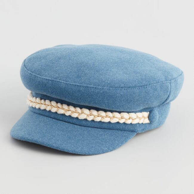 Dark Blue Military Newsboy Hat