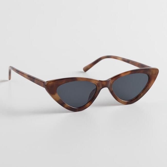 Thin Tortoiseshell Cat Eye Kimmie Sunglasses