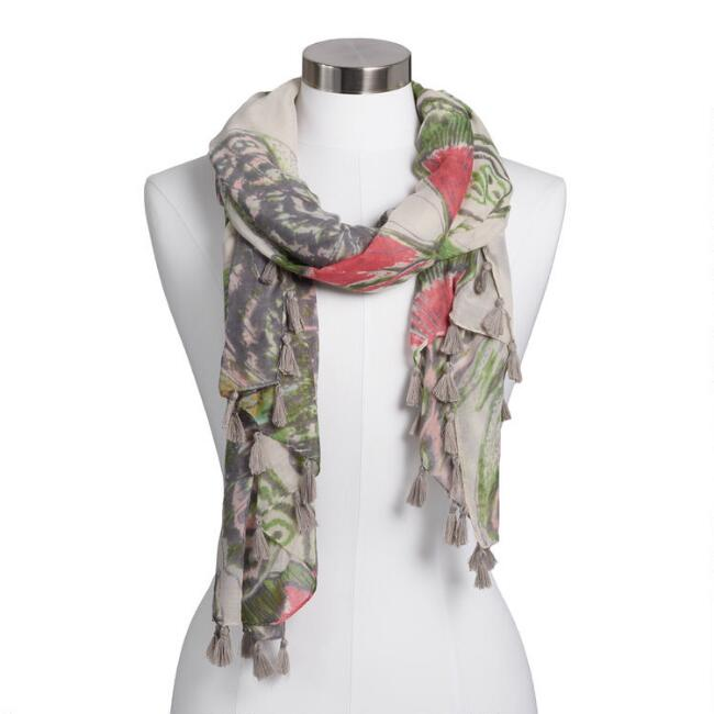 Pastel Butterfly Mariposa Scarf