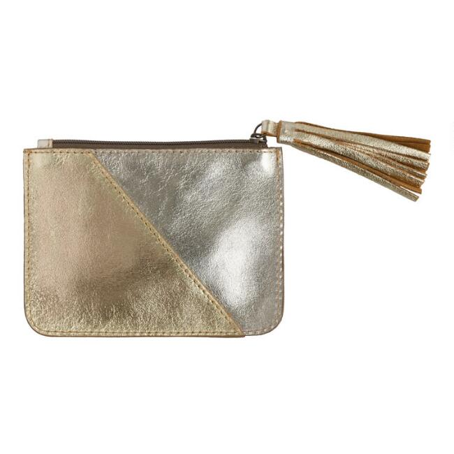 Metallic Champagne and Rose Gold Two Toned Pouch