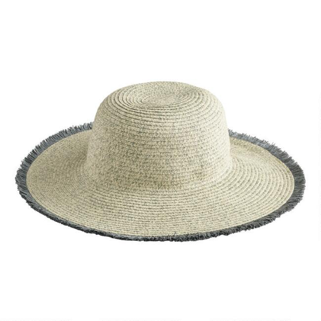 Dusty Blue And Ivory Heathered Sun Hat