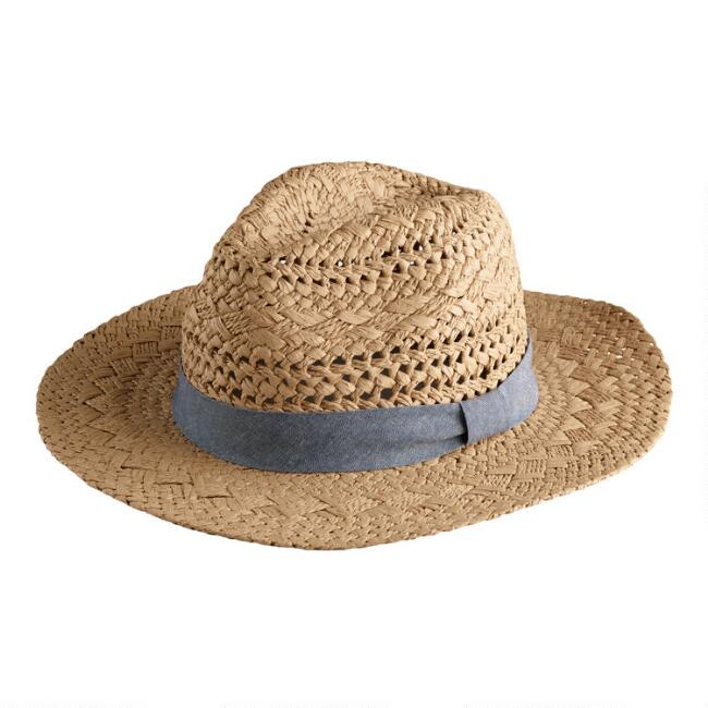 Dark Natural Straw Rancher Hat